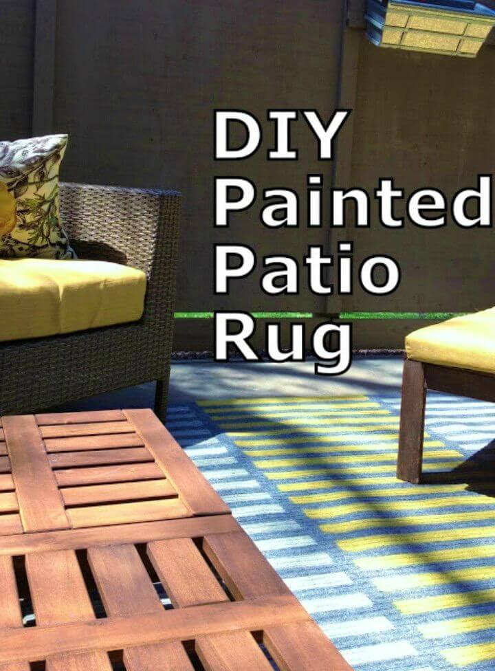 How to DIY Painted Patio Rug, perfect outdoor rug design, amazing DIY outdoor rug, free DIY outdoor rug tutorial, cheap DIY rug, easy DIY project, cute patio DIY project, free DIY patio rug tutorial, amazing