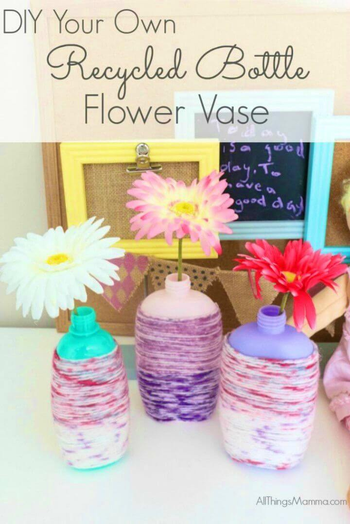 How to DIY Recycled Bottle Flower Vase