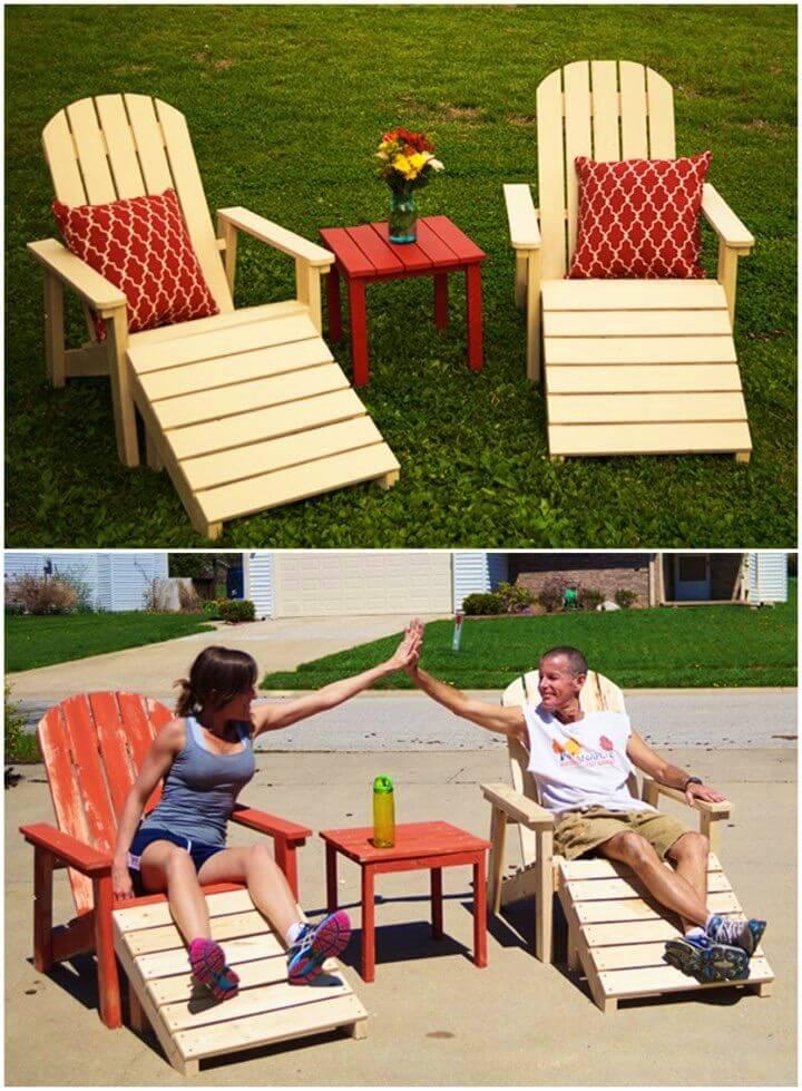 How to Make Five Piece Outdoor Adirondack Furniture Set