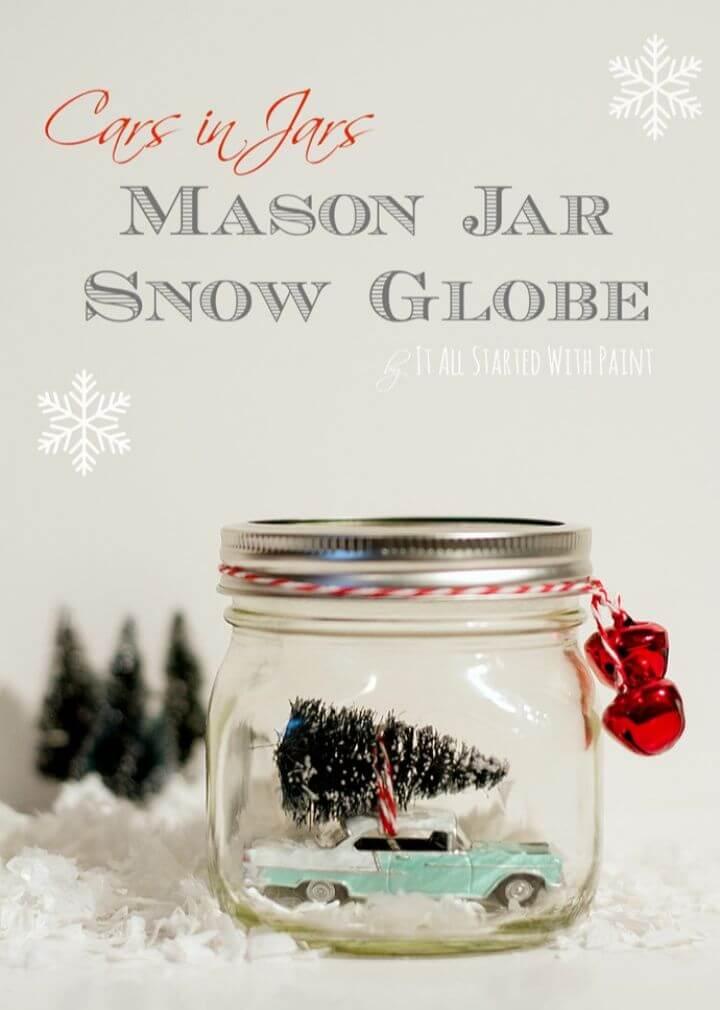 How to Make Car in Jar Snow Globe