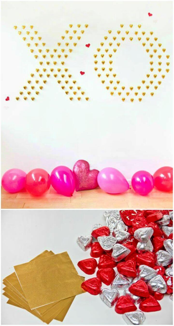 How to Make Chocolate Heart Wall