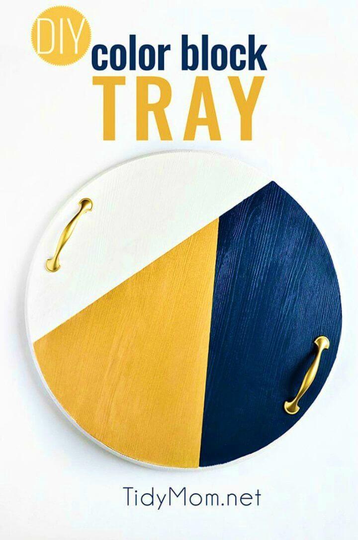 How to Make Color Block Tray, DIY, easy DIY, quick DIY, cheap DIY projects, DIY color blocks, color blocks, DIY color block tray, DIY tray, color block technique, DIY home decor, gift ideas, DIY serving tray.