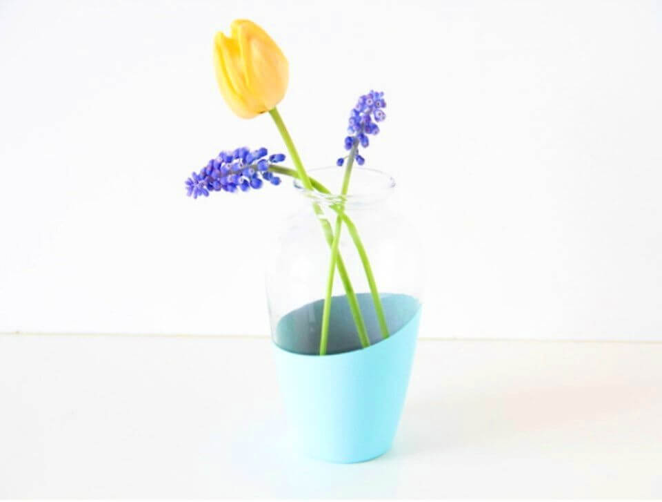 How to Make Color Block Vase