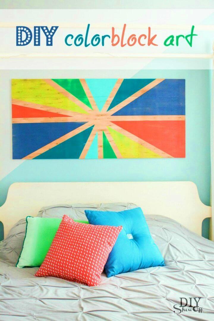 How to Make Colorblock Art, DIY, easy DIY, quick DIY, cheap DIY projects, DIY color blocks, color blocks, DIY color block art, color block technique, DIY color block art, DIY art, DIY wall art, art, artist, gift ideas.