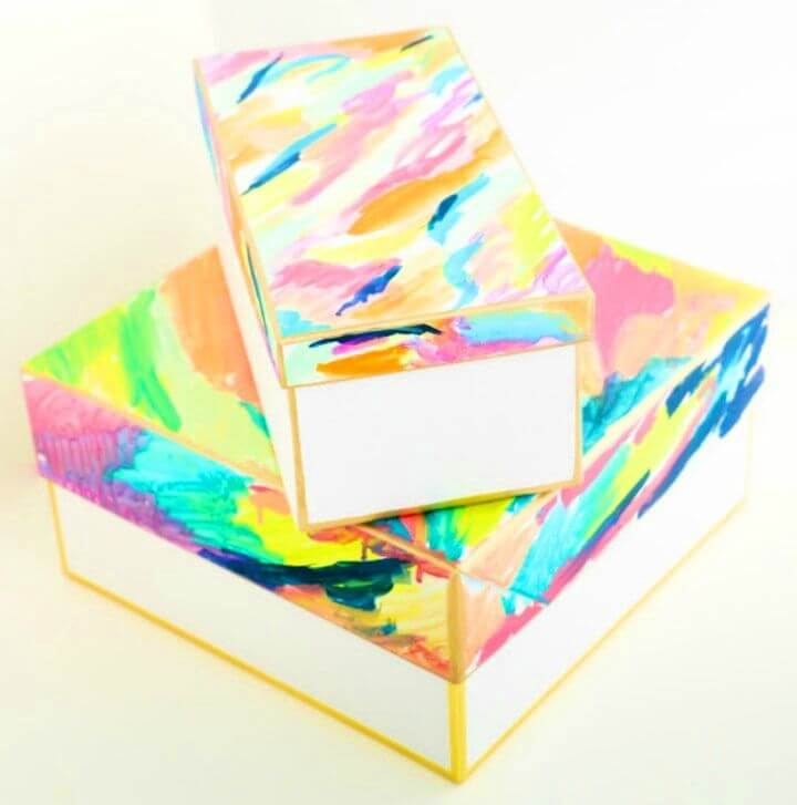 How to Make Colorful Storage Boxes