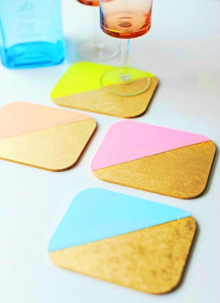 How to Make Colour Blocked Coasters, DIY, easy DIY, quick DIY, cheap DIY projects, DIY color blocks, color blocks, DIY color block coasters, DIY coasters, color block technique, DIY home decor, gift ideas.