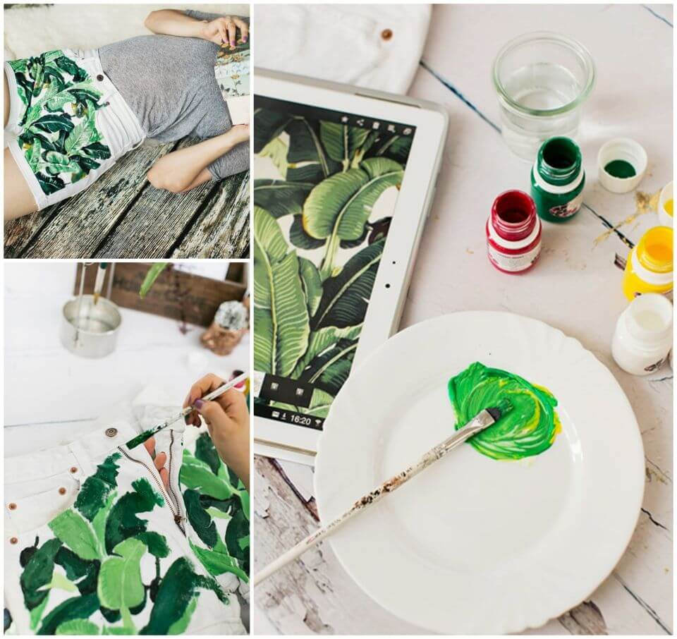 How to Make Denim Painting Shorts