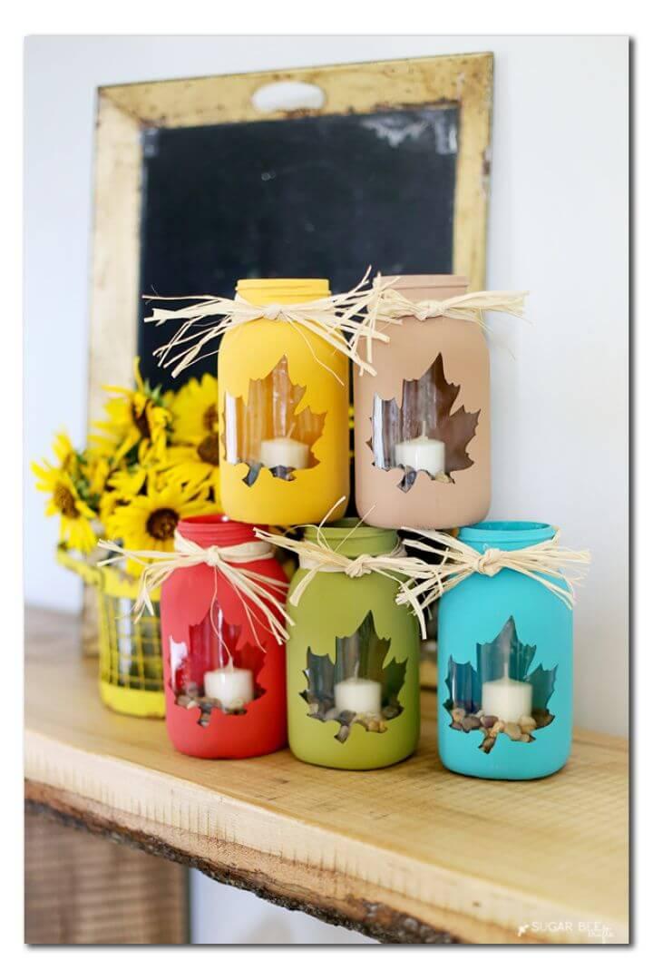 How to Make Fall Mason Jar Lights Craft