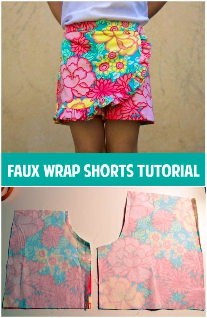How to Make Faux Wrap Shorts