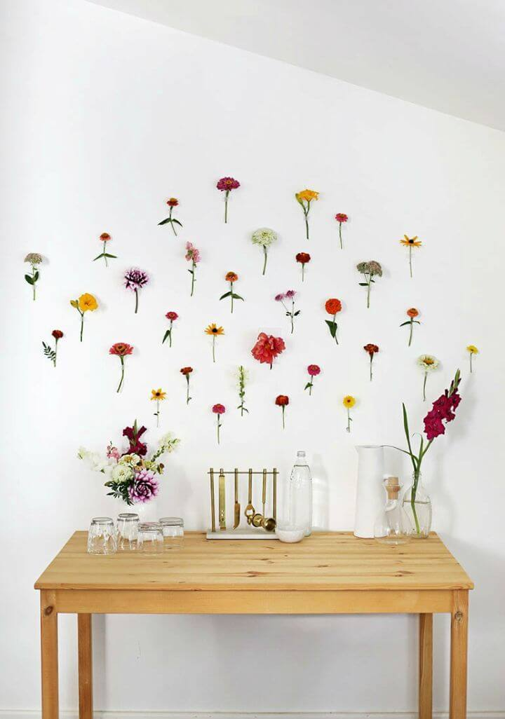 How to Make Floral Wall Backdrop