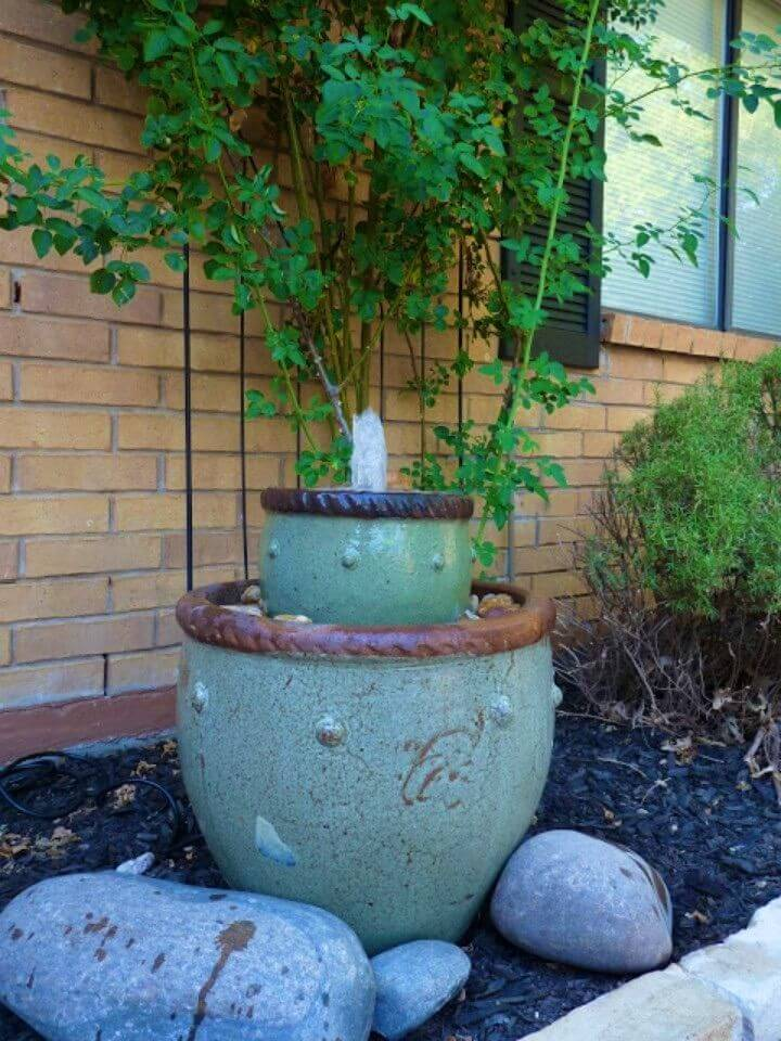 How to Make Flower Pot Fountain