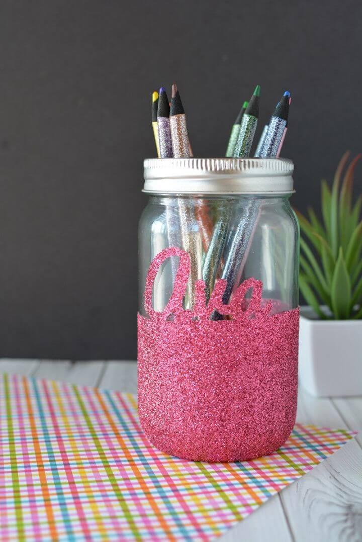 How to Make Glitter Mason Jar for Tealight