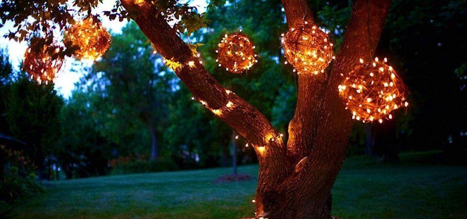 How to Make Grapevine Lighting Balls Backyard Lights