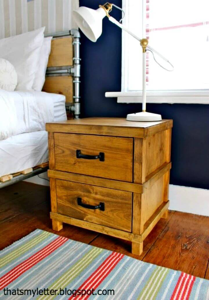 How to Make Handsome Nightstand