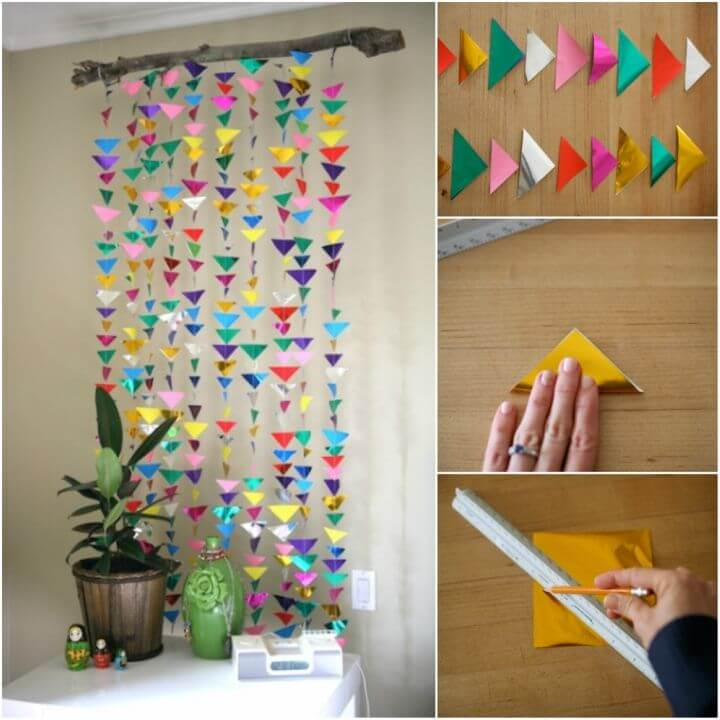 How to Make Hanging Triangle Garland