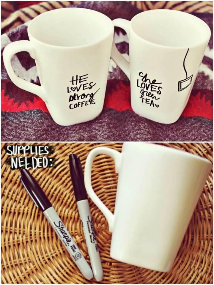 How to Make His Her Sharpie Mug