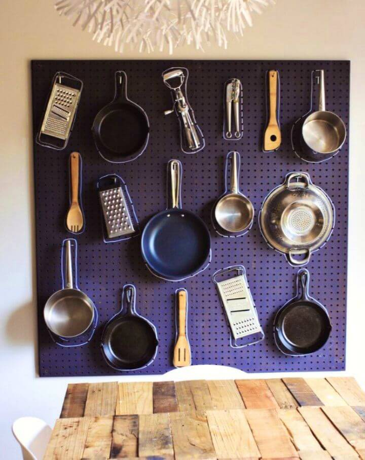 How to Make Kitchen Pegboard