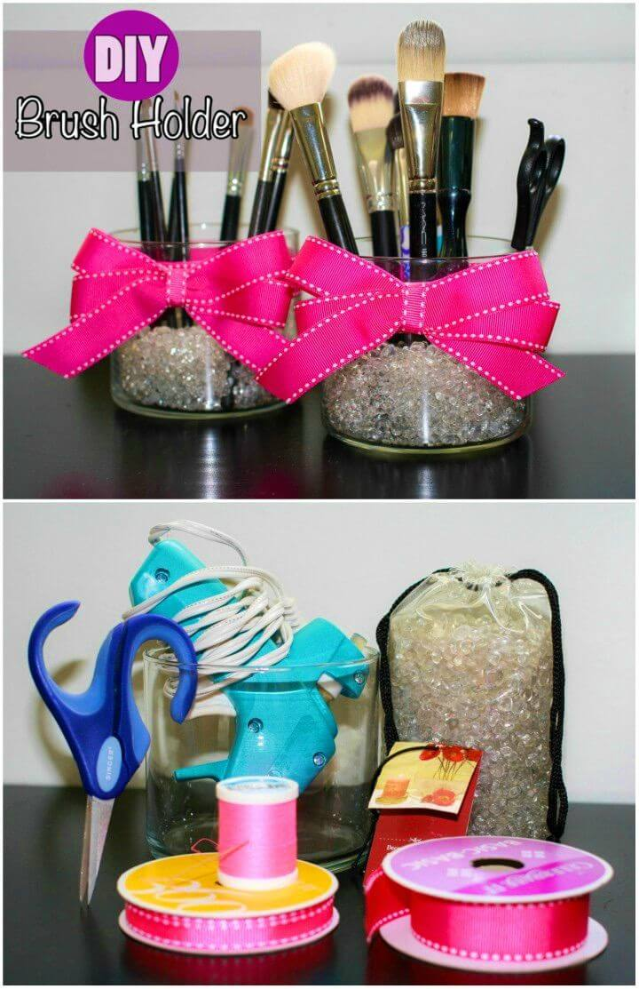 How to Make Makeup Brush Holder
