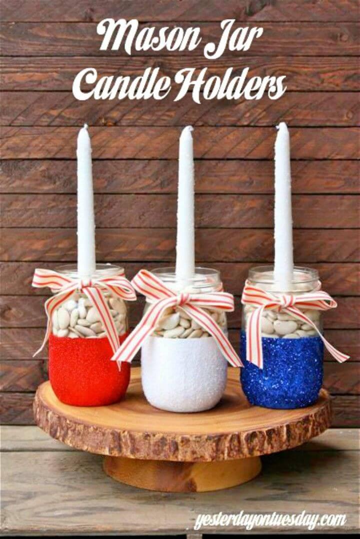 How to Make Mason Jar Candle Holders