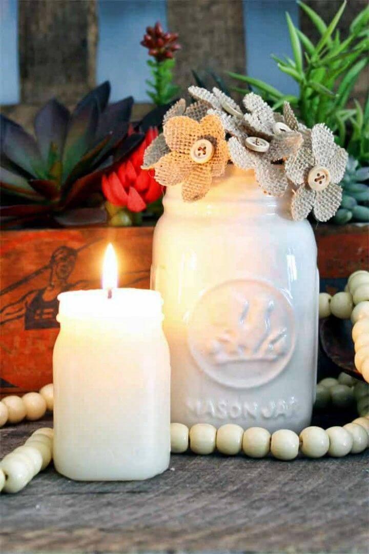 How to Make Mason Jar Candles
