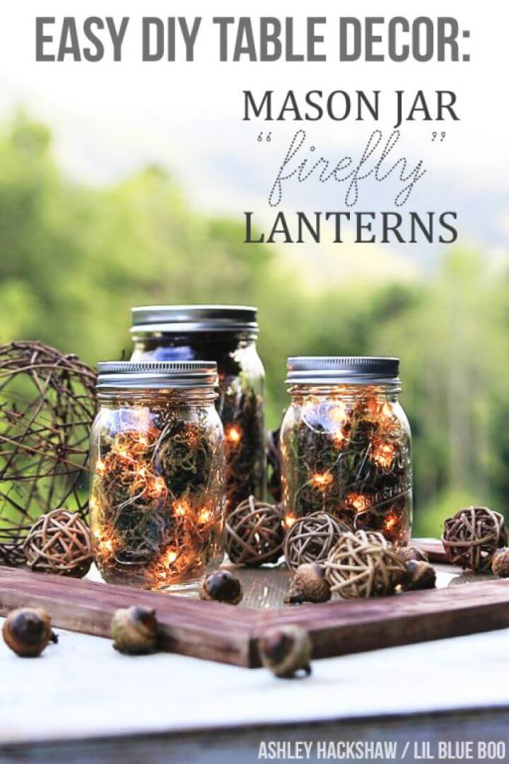 How to Make Mason Jar Firefly Lanterns