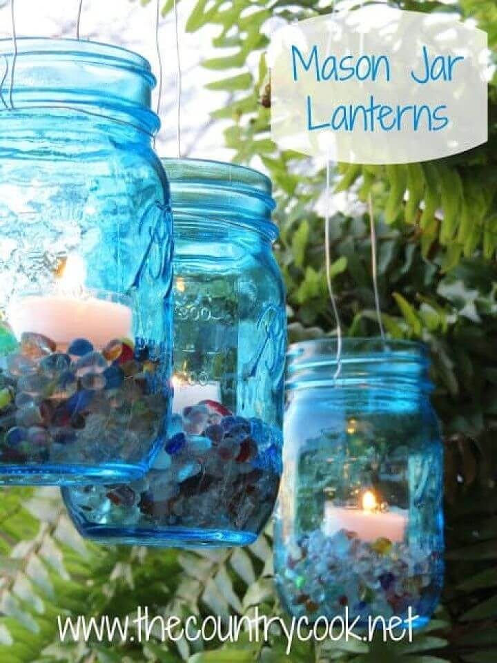 How to Make Mason Jar Lanterns