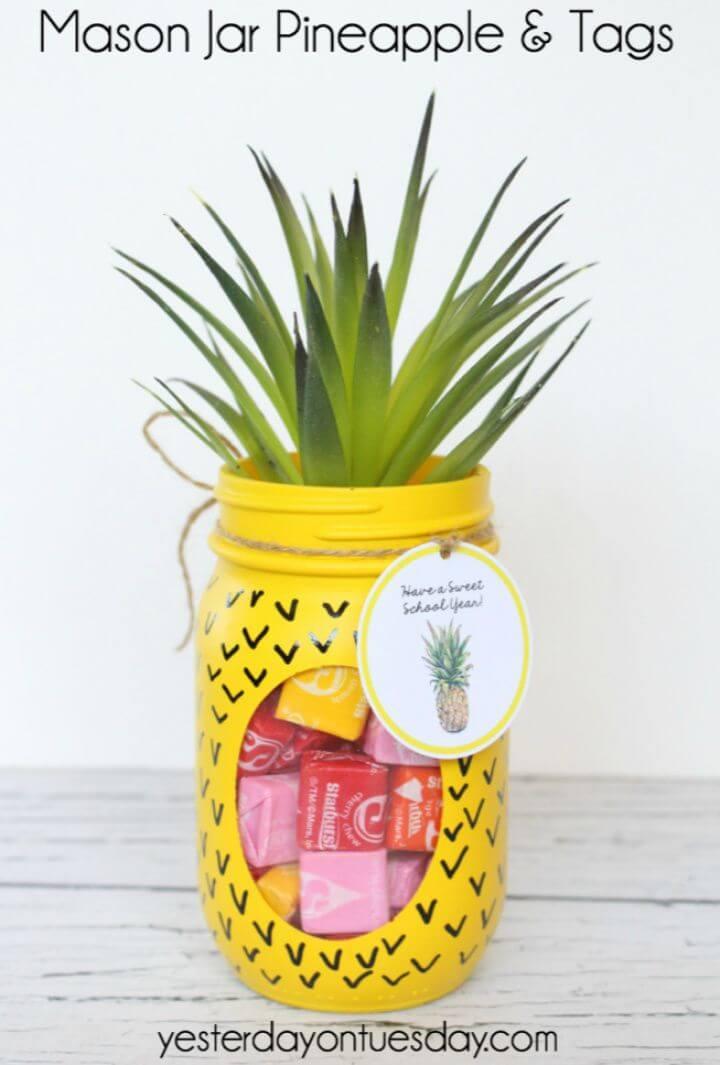 How to Make Mason Jar Pineapple and Tags