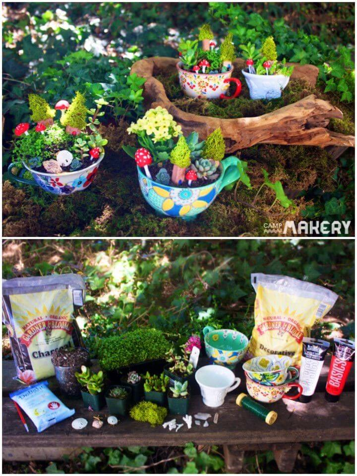 How to Make Miniature Teacup Garden