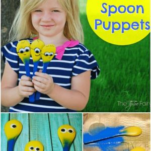 How to Make Minion Spoon Puppets