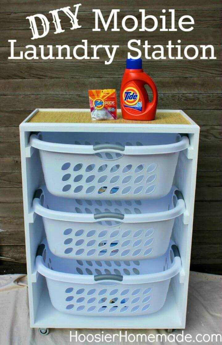 How to Make Mobile Laundry Station
