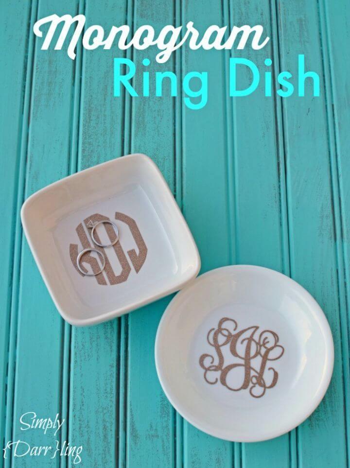 How to Make Monogram Ring Dish