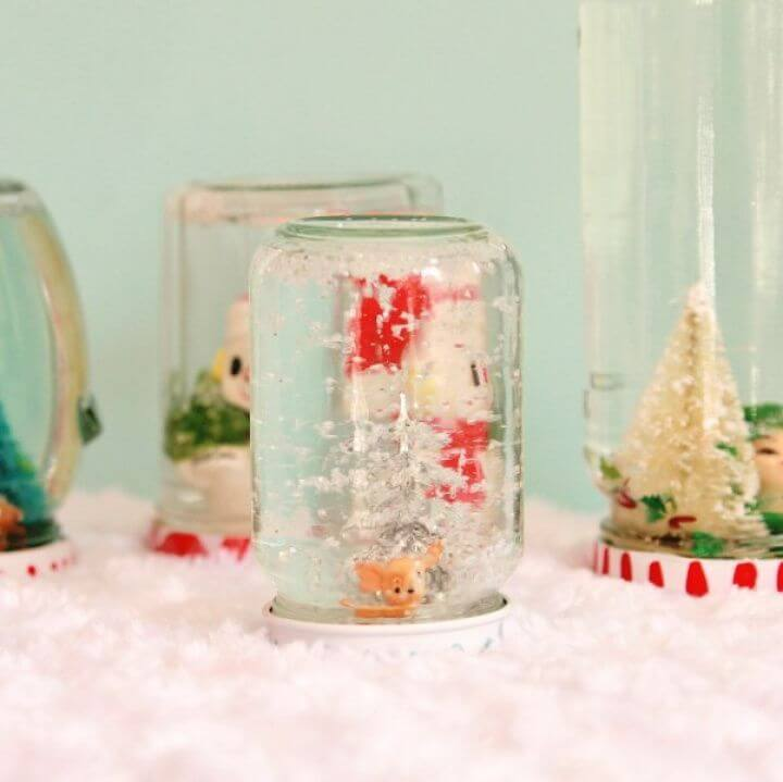 How to Make Recycled Jar Snowglobes