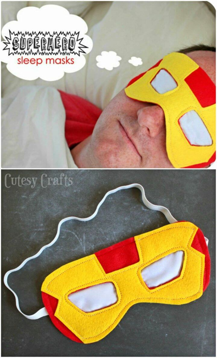 How to Make Superhero Sleep Masks