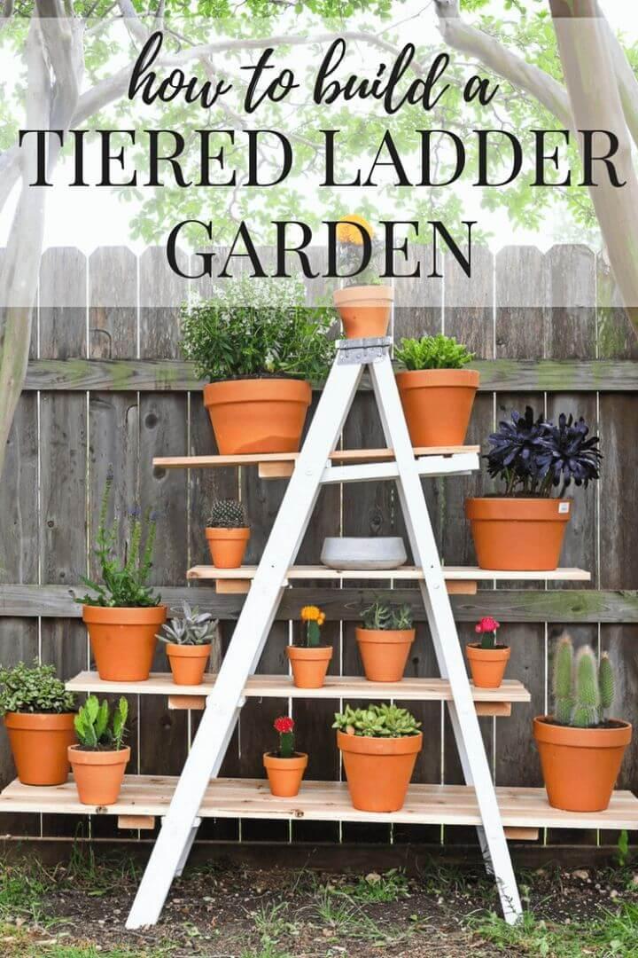 How to Make Tiered Ladder Garden