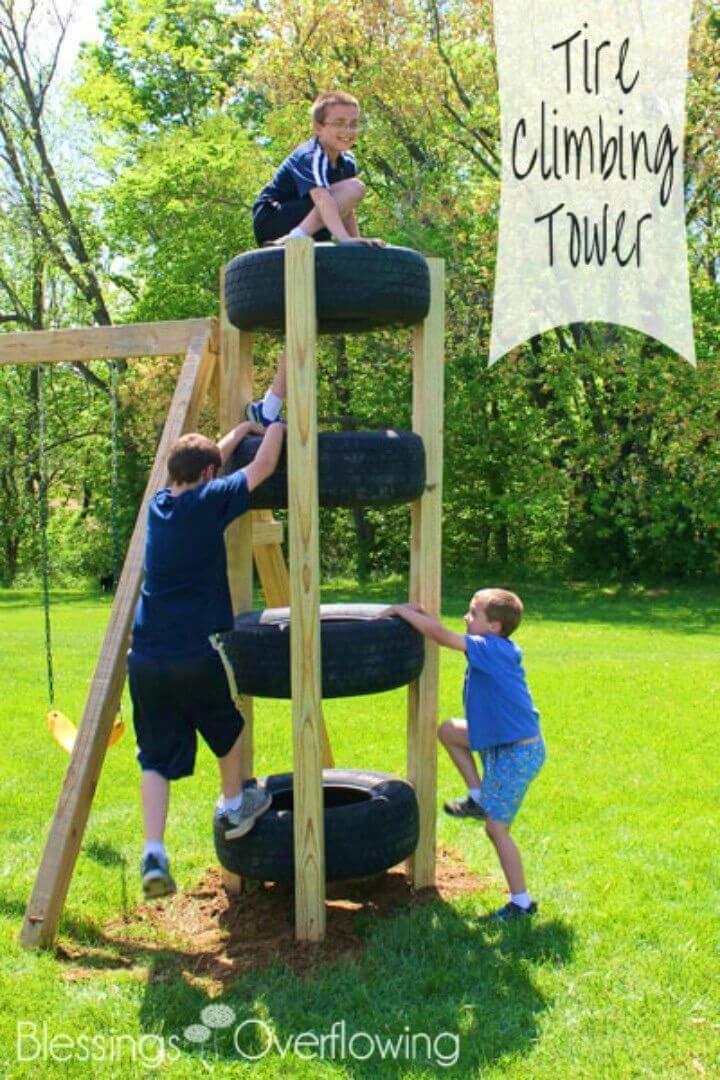 How to Make Tire Climbing Tower