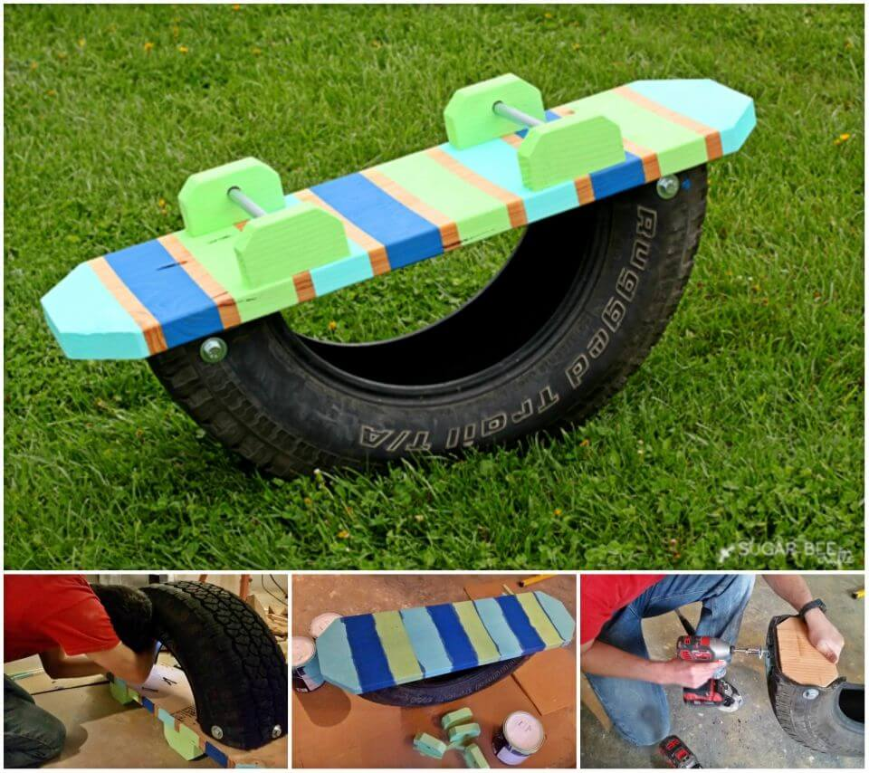 How to Make Tire Teeter Totter