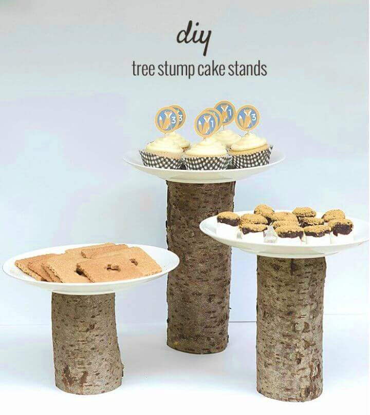 How to Make Tree Stump Cake Stands