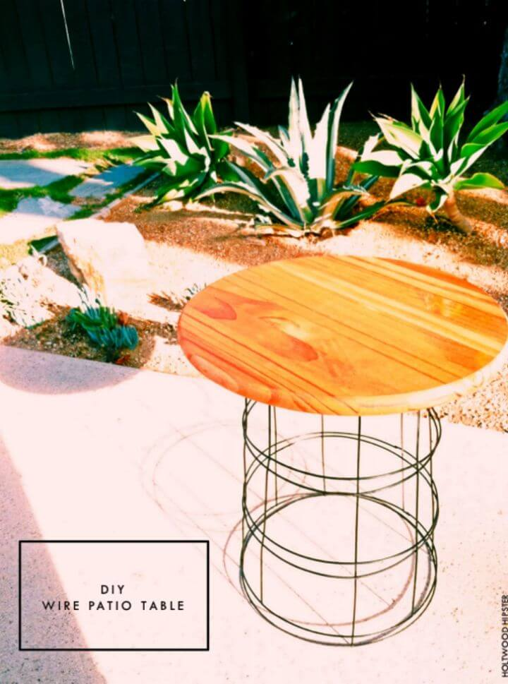 How to Make Wire Patio Table