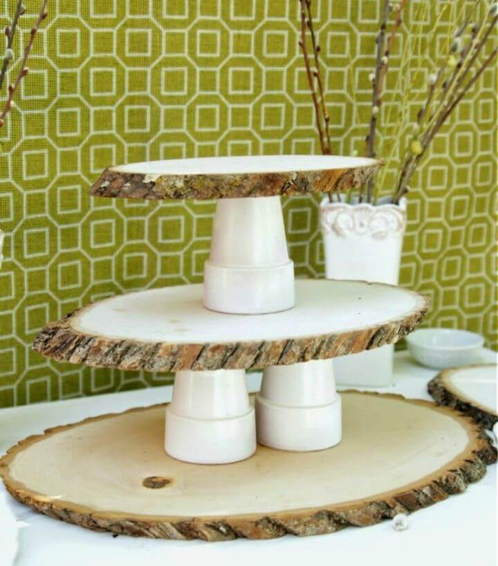 How to Make Woodsy Cupcake Stand