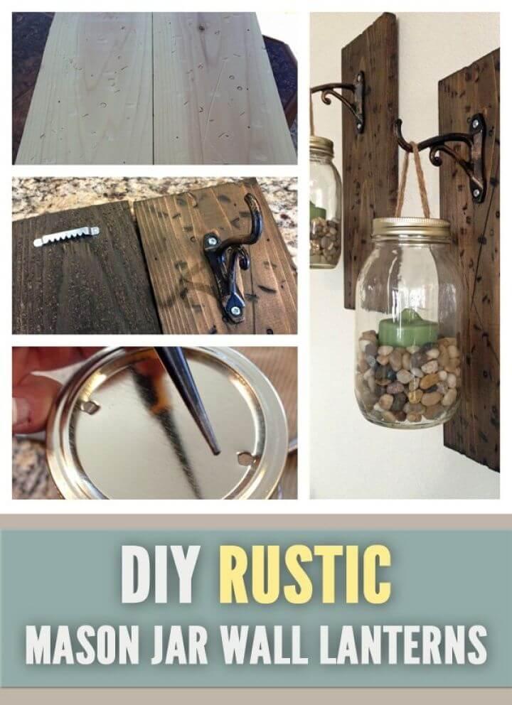 How to Mason Jar Wall Lanterns