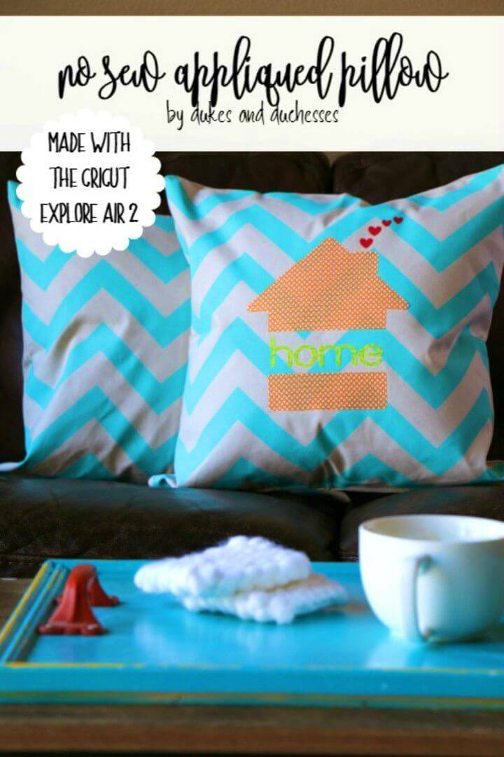 How to No Sew Appliqued Pillow