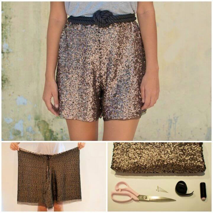 How to Sew Sequin Shorts