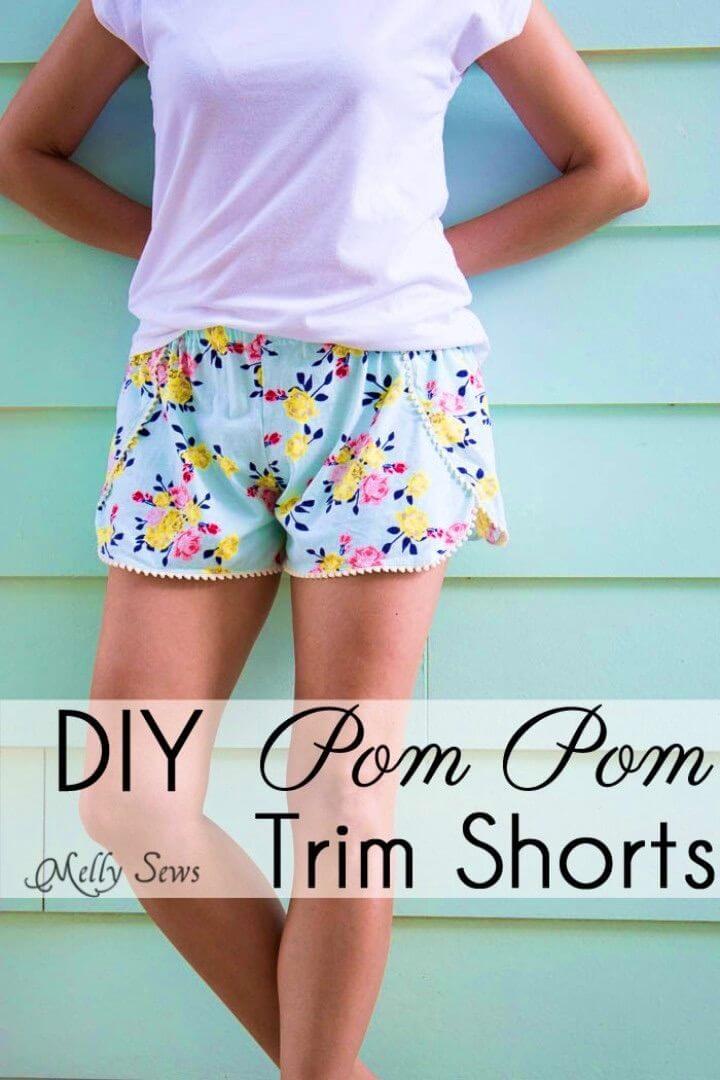 How to Sew With Pom Pom Fringe