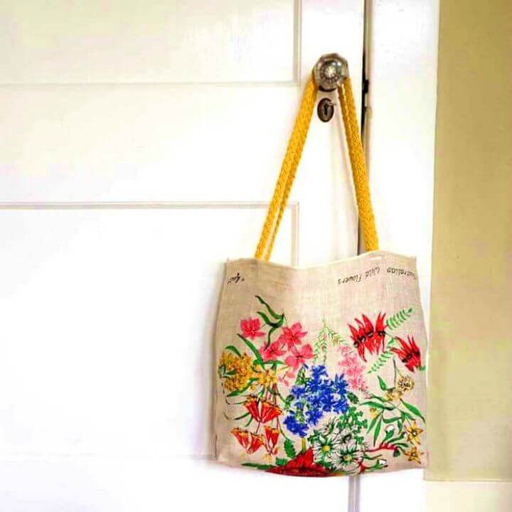 How to Sewing Tote From a Tea Towel