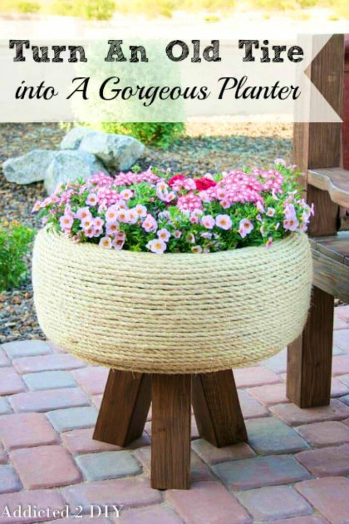 How to Turn An Old Tire Into A Gorgeous Planter