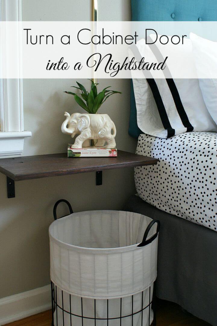 How to Turn Cabinet Door Into Floating Nightstands