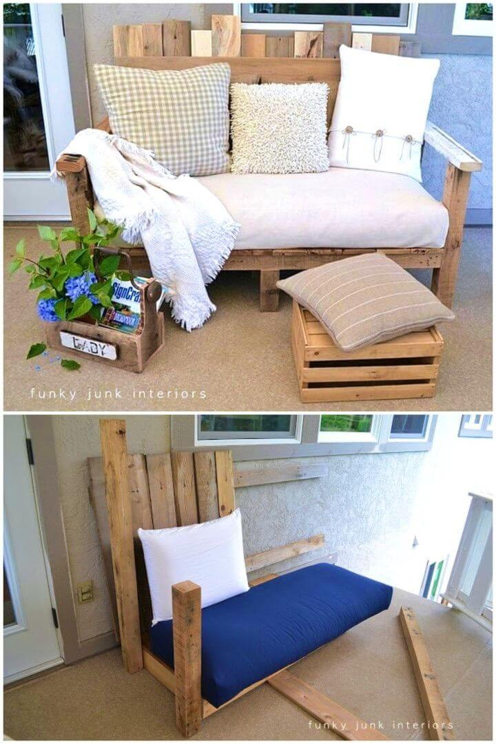 How to Turn Pallet into Backyard Sofa
