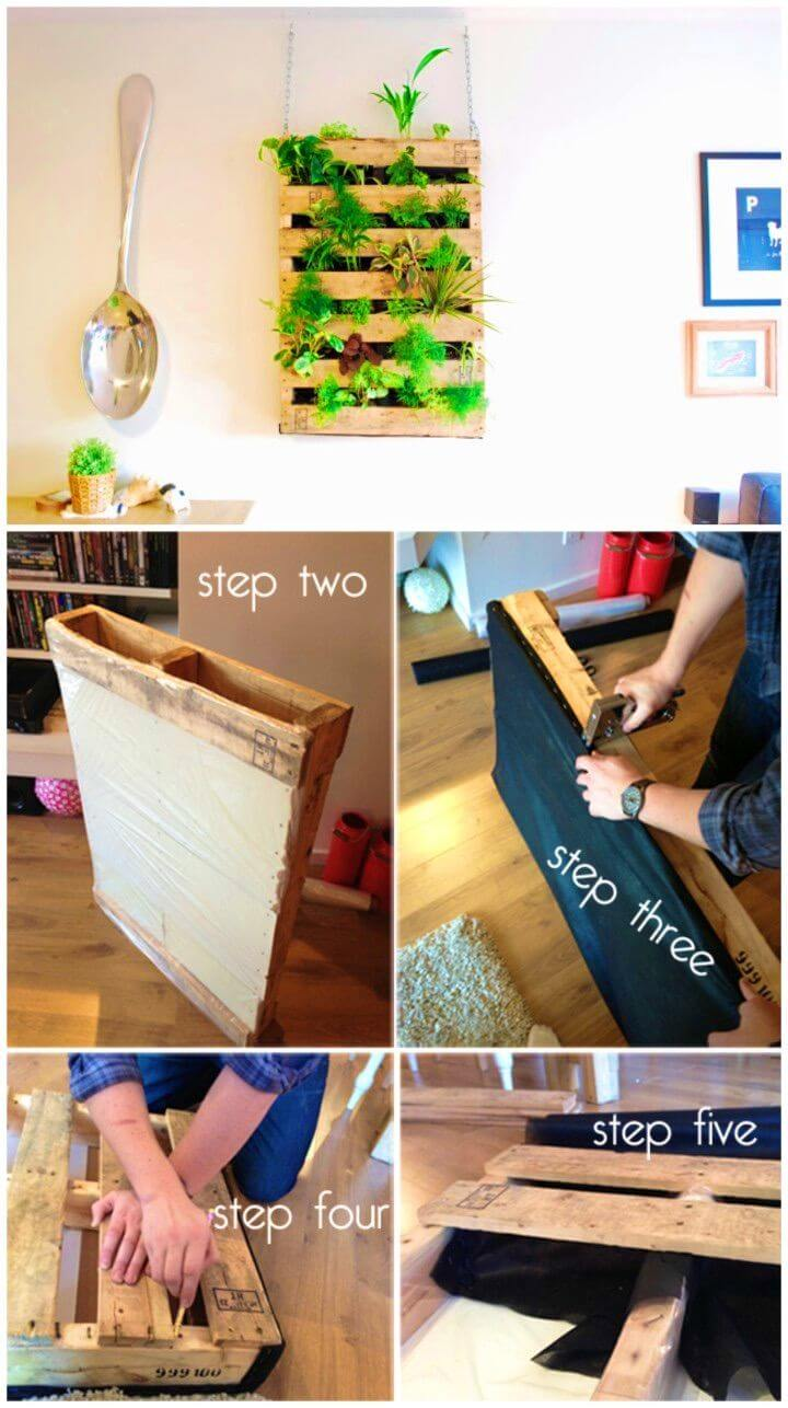 How to Turn Pallet into Living Wall