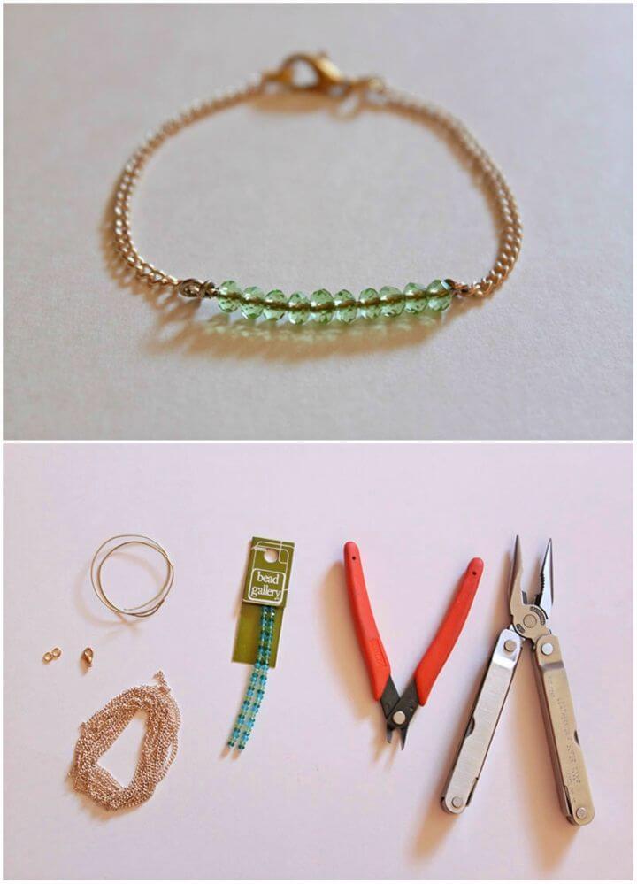 Inexpensive DIY Bead Bracelet for Wedding Gift