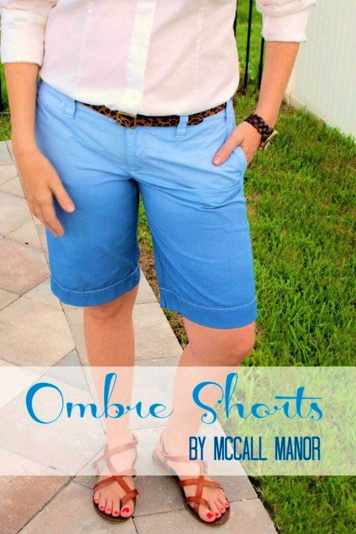 Inexpensive DIY Ombre Shorts